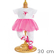 Ballerina Fuchsia Suit for 30cm baby doll Corolle