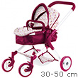 Happy Flower Pram for baby dolls up to 50cm