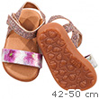 Pair of glittering sandals for 42-50cm dolls and baby dolls