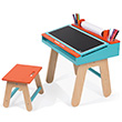 Desk and Stool - Orange and blue - Kids' furniture Janod