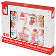 Christmas Decorations - Wood (8 pieces) Janod