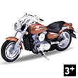 Moto 2002 Kawasaki Vulcan 1500 Mean Streak - 1:18 Toy Welly