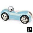 Wooden Lacquered Turquoise Streamline Car Vilac