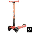 Maxi Micro Deluxe Coral Red foldable - Scooter for ages 5-12 Micro Mobility Scooters & Kickboards