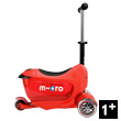 Mini2Go Deluxe Plus - Ride-on & Scooter - Red Micro Mobility Scooters & Kickboards