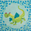 Square Carpet Fairy tale Dragon 140 x 140 cm