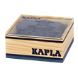 40 coloured Kapla blocks in a wooden cube dark blue