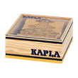 40 coloured Kapla blocks in a wooden cube yellow